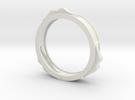 mustache bracelet hollow in White Strong & Flexible