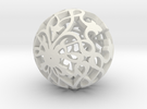 Moroccan Ball 7.2 in White Strong & Flexible