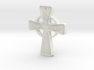 Celtic_Cross approx 1 inch in White Strong & Flexible