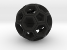 Soccer Ball  with American Football Inside #2 in Black Strong & Flexible