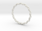 Ripples Bangle in White Strong & Flexible
