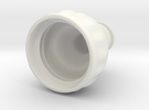 Gardenhose adapter for PET bottles in White Strong & Flexible