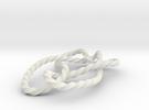 Stevedore knot in White Strong & Flexible