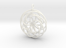 Give Love Get Love moving Pendant in White Strong & Flexible Polished