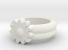 Sarah Allen Gerbera Ring in White Strong & Flexible