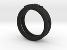 Anello Ary in Black Strong & Flexible