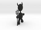 Devil Pendant in Black Strong & Flexible
