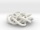 Prime Knot d4.122 30% bigger in White Strong & Flexible