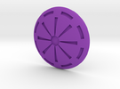 Republic Button in Purple Strong & Flexible Polished