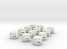 Rubik's Cube Edges in White Strong & Flexible