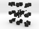 mini 3x3x2 Pillowed (30mm x 20mm) in Black Strong & Flexible