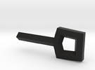 Square Key in Black Strong & Flexible