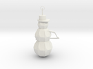 Snow Man Ornament in White Strong & Flexible