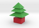 3d  Xmas Tree Small in Full Color Sandstone