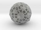 d120 Alphabet Dice in Metallic Plastic