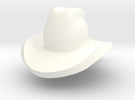 cowboy hat mini in White Strong & Flexible Polished