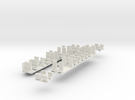 Plan U n-schaal (1:160) stoelen in White Strong & Flexible