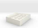 Alignment Block 40mm wide base in White Strong & Flexible