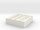 Alignment Block 40mm in White Strong & Flexible