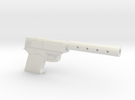 9mm with silencer in White Strong & Flexible