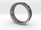 Math Ring v8 in Raw Silver