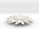 Sunflower Pendant - Bigger Loop in White Strong & Flexible