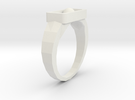 Ring N004 in White Strong & Flexible