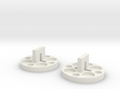 120 To 616 Film Spool Adapters, Set of 2 in White Strong & Flexible