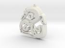 Viking Triskle in White Strong & Flexible