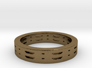 Basic vent ring Ring Size 7 in Raw Bronze