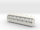 3mm scale LBER Third Class Coach print version in White Strong & Flexible