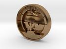 Aviation Button - Attitude Indicator in Raw Brass
