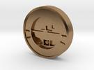 Aviation Button - Turn Coordinator in Raw Brass
