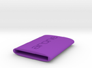 Business card holder in Purple Strong & Flexible Polished