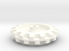 Pololu  15 Cog Wheel For Axle in White Strong & Flexible Polished