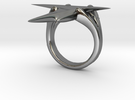 Stingray Ring in Polished Silver