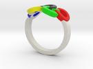 Olympic Ring-sz19 in Full Color Sandstone