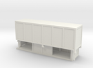 JCDecaux Shelter (enclosed) 1:148 N Gauge in White Strong & Flexible