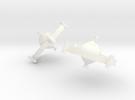 Jla Satellite Earrings in White Strong & Flexible Polished