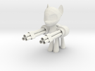 Pony Gatling Gun in White Strong & Flexible