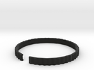 Lodret - Small plastic bracelet. in Black Strong & Flexible