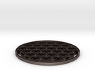 Flower of life coaster 100x4mm in Stainless Steel