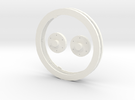 Idler Ring Set in White Strong & Flexible Polished