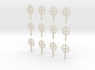 12 28mm Sun Sword Symbols in White Acrylic