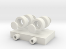 Simple Wheels, Pins and Chassis in White Strong & Flexible