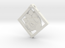 Togepi Pendant in White Strong & Flexible