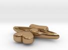 Heart Drop From Eye Pendant in Polished Brass