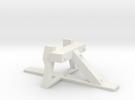 VR narrow gauge bufferstop G45mm gauge in White Strong & Flexible