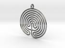 Labyrinth Pendant in Premium Silver