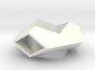 Hexagonal Torus Pendant in White Strong & Flexible Polished